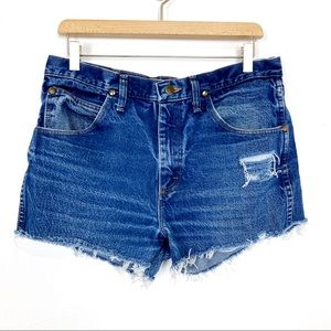 Vintage high wishes cutoff jean shorts distressed